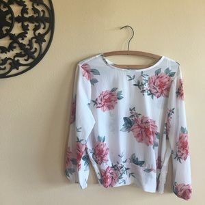OLM Large Floral Blouse